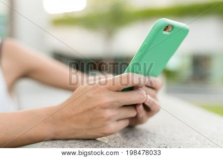 Working on smart phone