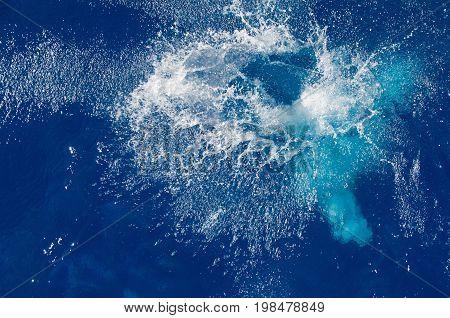 Big Splash, Color Image, Selective Focus, Horizontal Image