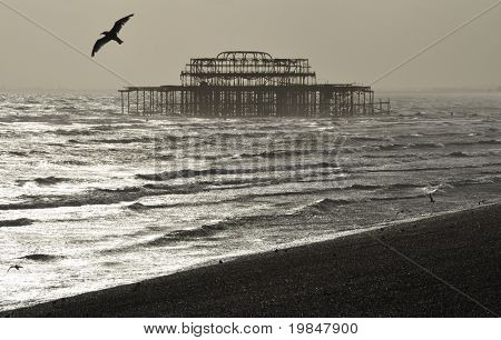 The West Pier in Brighton