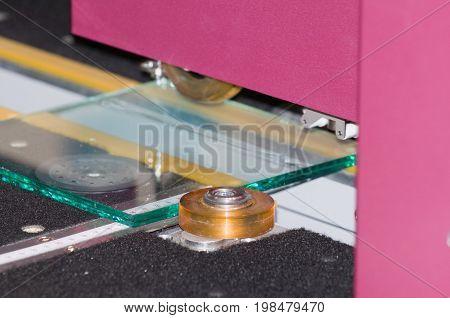 Glass Cutting, Color Image, Selective Focus, Horizontal Image