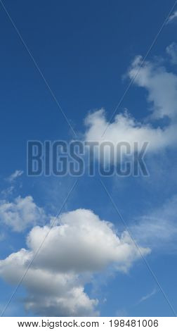 Cloud formation in summer with beautiful blue sky