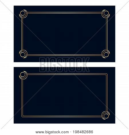 Vector Art Deco Invitation Cards.