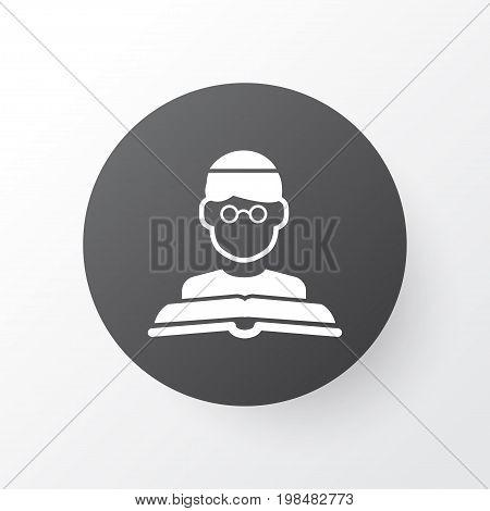 Premium Quality Isolated Person  Element In Trendy Style.  Imam Icon Symbol.