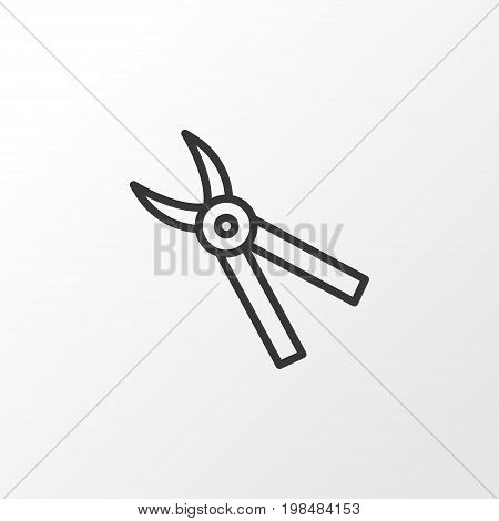 Premium Quality Isolated Pliers Element In Trendy Style.  Pincers Icon Symbol.