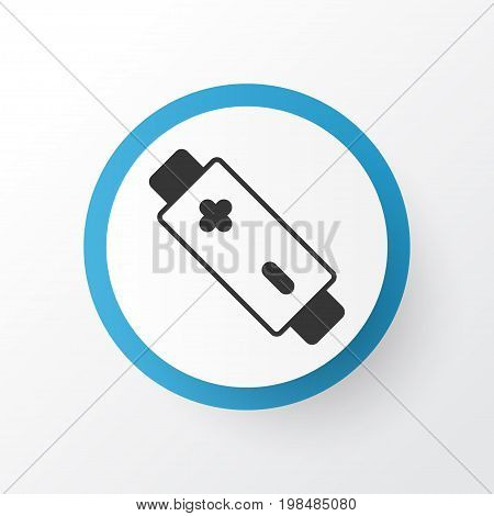 Premium Quality Isolated Alkaline Element In Trendy Style.  Battery Icon Symbol.