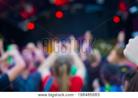 People Having Fun At The Concert.