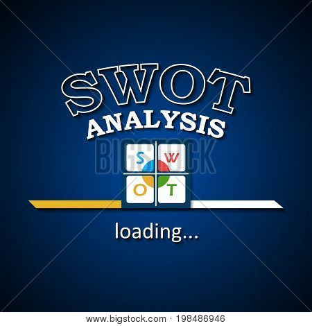 SWOT analysis is loading - business template design