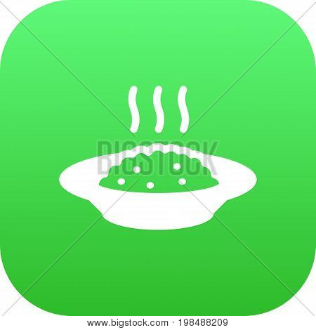 Vector Cereal Element In Trendy Style.  Isolated Porridge Icon Symbol On Clean Background.
