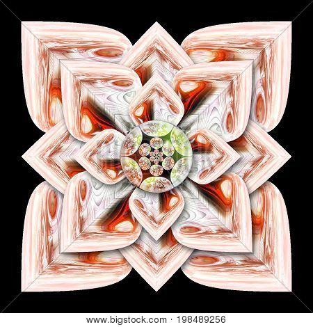 3D Rendering Glossz Flower Artwork
