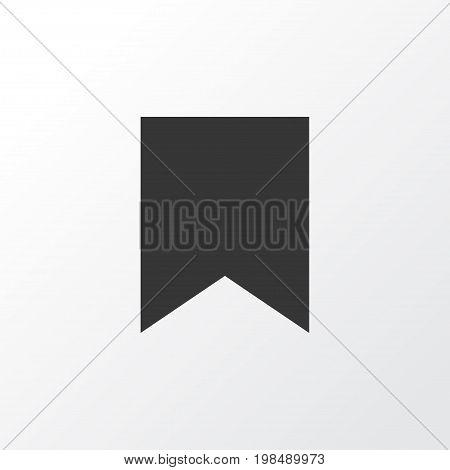 Premium Quality Isolated Mark  Element In Trendy Style.  Bookmark Icon Symbol.