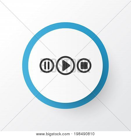 Premium Quality Isolated Song UI Element In Trendy Style.  Audio Buttons Icon Symbol.