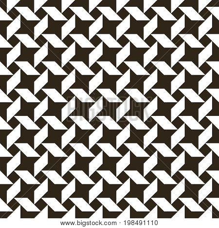 Vector seamless pattern. Infinitely repeating modern geometrical texture consisting of stars. Abstract textured background.