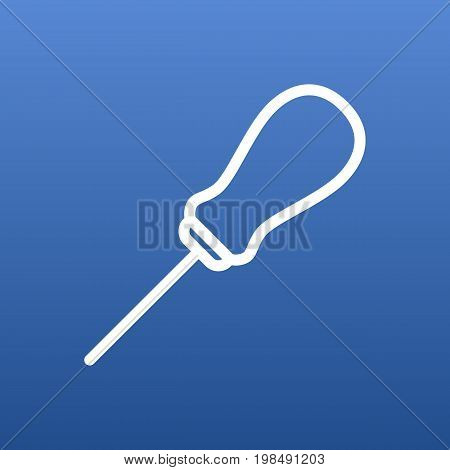 Vector Awl Element In Trendy Style.  Isolated Bodkin Outline Symbol On Clean Background.