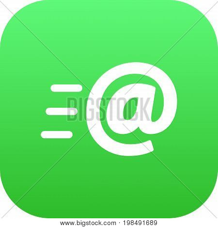 Vector Message  Element In Trendy Style.  Isolated Email Icon Symbol On Clean Background.