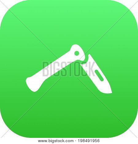 Vector Jackknife Element In Trendy Style.  Isolated Penknife Icon Symbol On Clean Background.