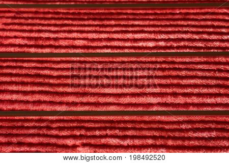red blanket texture with lines old vintage