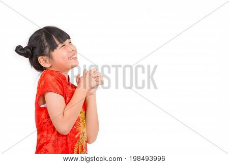 Smileing Asian Girl Wishing You A Happy Chinese New Year