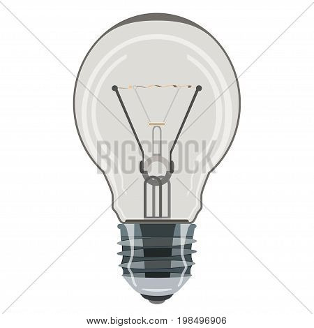 Light bulb vector icon isolated on white background. Flat style design.