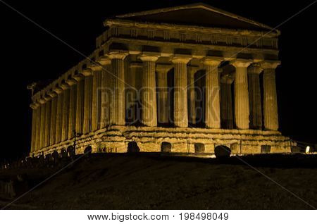 Sicily archaeological site of agrigento main temple