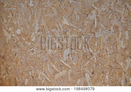 Natural chip particle board desk empty grainy background