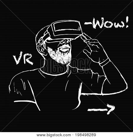 Man In Vr Glasses