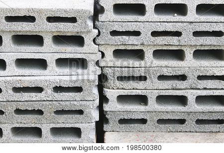 Close up of white bricklayer arrangement background