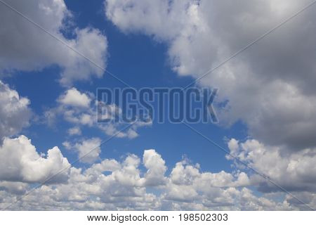 Clouds in the sky on a summers day