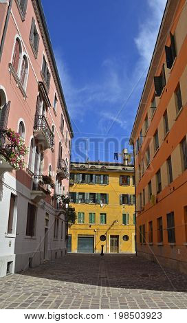 Residential buildings in the Dorsoduro quarter of Venice