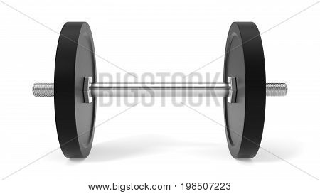 3d illustration of dumbell. isolated on white.