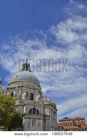 The Basilica di Santa Maria also called the Santa Maria della Salute in the Dorsoduro quarter of Venice