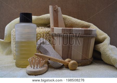 equipment and accessories for a therapeutic Spa massage