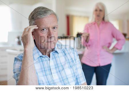 Portrait Of Mature Couple Having Argument At Home