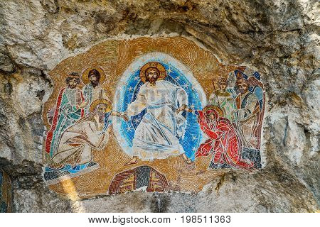 Mosaics In Ostrog Monastery
