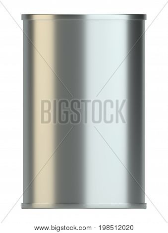 Blank Metal Tin Can. Ready For Your Design. Product Packing. 3D Illustration