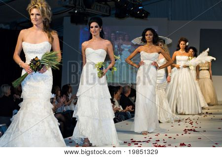 SCOTTSDALE, AZ - NOV 7: Destiny's Bride formal and bridal fashion collection shown at Scottsdale Fashion Week on November 7, 2008 in Scottsdale, AZ