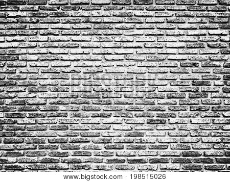 Black White Brick Wall Texture Design. Empty Abstract Background for Presentations and Web Design. A Lot of Space for Text Composition art image, website, magazine or graphic for commercial campaign