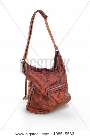 Womens brown bag isolated on white background