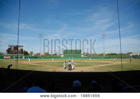 MESA, AZ - NOV 20: The Mesa Solar Sox play the Scottsdale Scorpions in an Arizona Fall League baseball game on November 20, 2008 in Mesa, Arizona.  The Scorpions won 10-9.