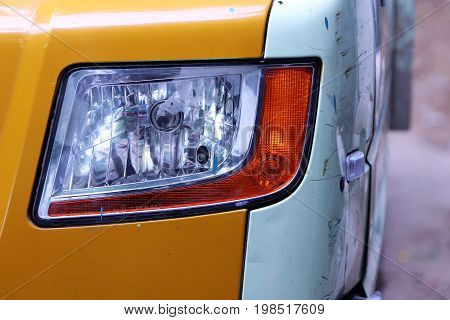 Indian Made Vintage Vehicle headlamp with Lamps