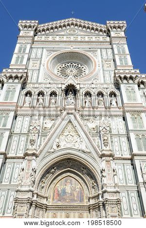 Firenze Italy - 5 July 2017: Cathedral of Saint Mary of Flower at Florence on Italy.