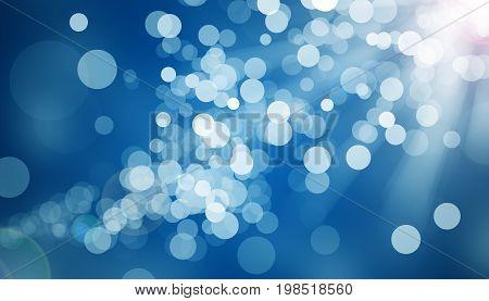Lights on blue background. digitally generated image of blue light black background