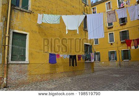 A residential street in the Dorsoduro quarter of Venice