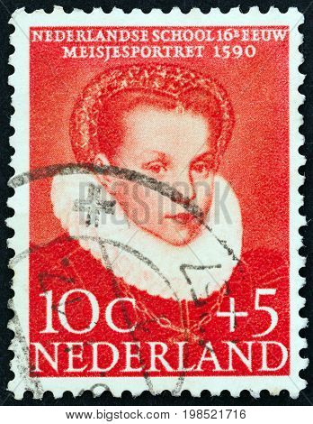 NETHERLANDS - CIRCA 1956: A stamp printed in the Netherlands from the