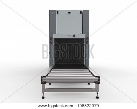 Scanner Machine At Airport Security Checkpoint