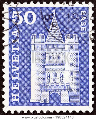 SWITZERLAND - CIRCA 1960: A stamp printed in Switzerland from the