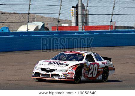 AVONDALE, AZ - APRIL 17: Joey Logano #20 competes in the NASCAR Nationwide Series race at Phoenix International Raceway on April 17, 2009 in Avondale, AZ.