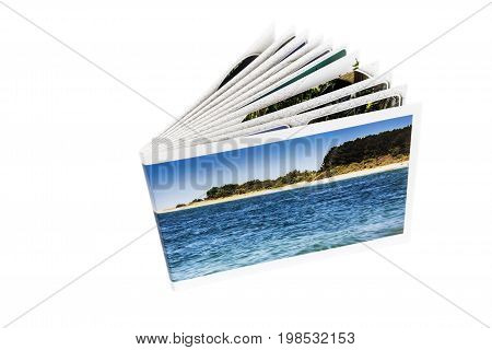 The photo album is decorated in a beautiful photo book. Presented on a white background.