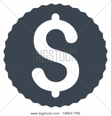 Dollar Coin vector icon. Flat smooth blue symbol. Pictogram is isolated on a white background. Designed for web and software interfaces.