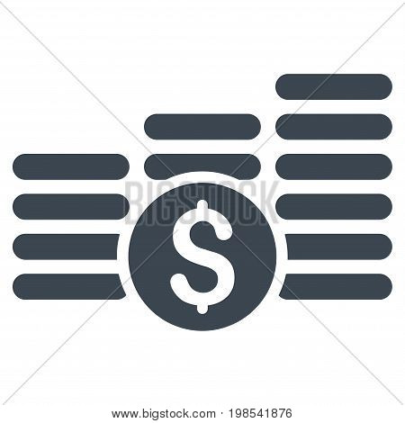 Finances vector icon. Flat smooth blue symbol. Pictogram is isolated on a white background. Designed for web and software interfaces.