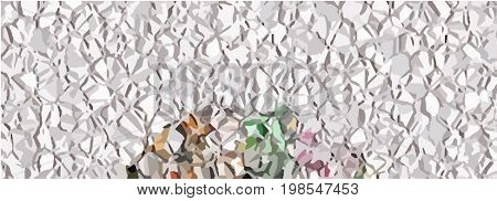Beautiful background with crumpled foil and colorful elements.